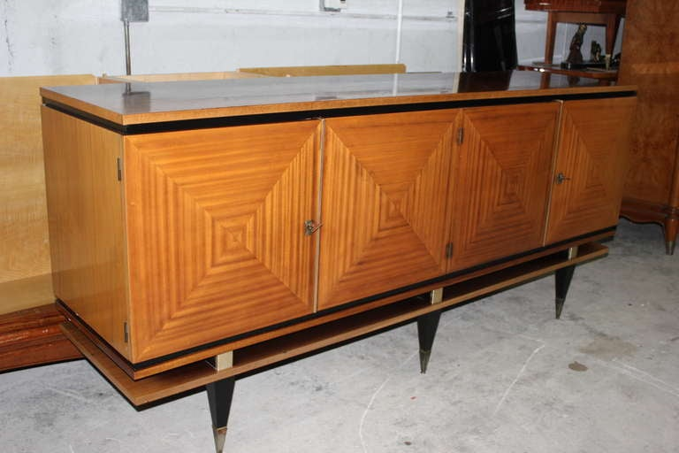 french art deco blonde mahogany buffet style maxime old at. Black Bedroom Furniture Sets. Home Design Ideas