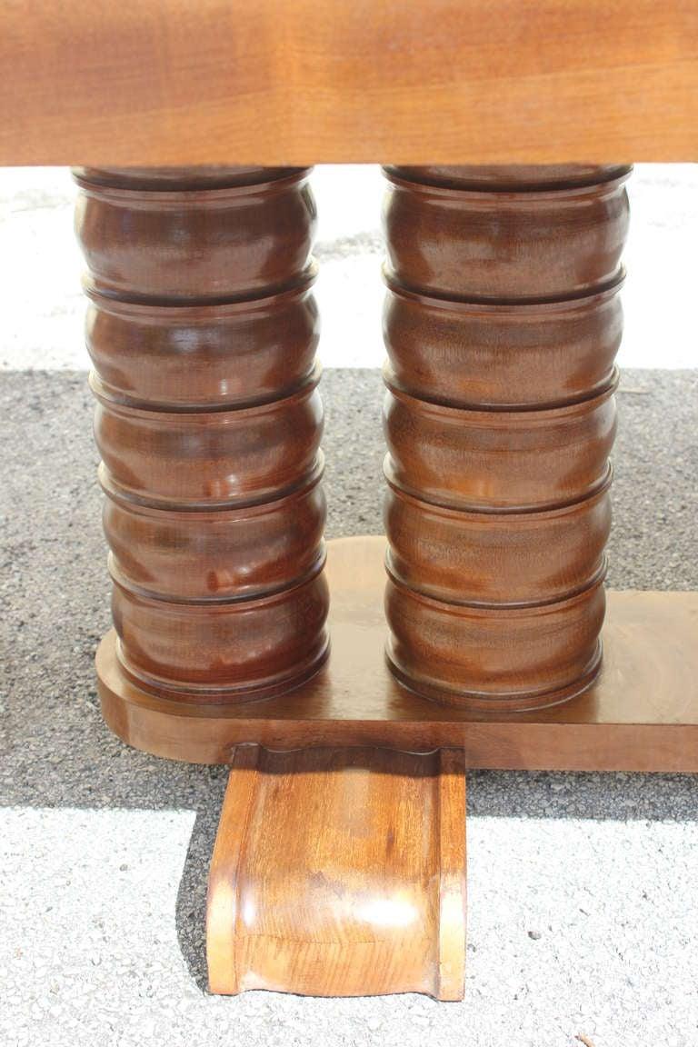 french art deco solid mahogany designer dining table gaston poisson 7 art deco dining 7