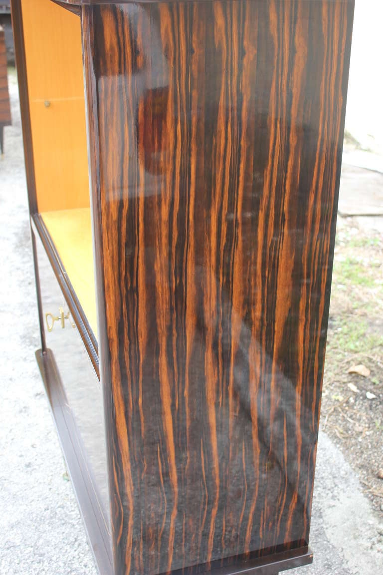 French Art Deco Exotic Macassar Ebony Vitrine At 1stdibs