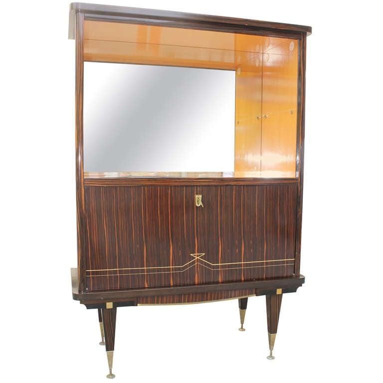 French art deco exotic macassar ebony vitrine at 1stdibs for Decoration vitrine