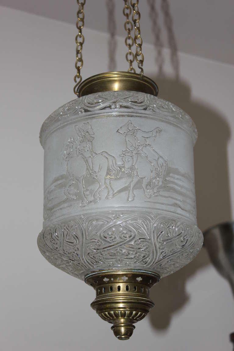 Authentic French Baccarat Electrified Oil Lantern, 19thc. Napoleon III ...