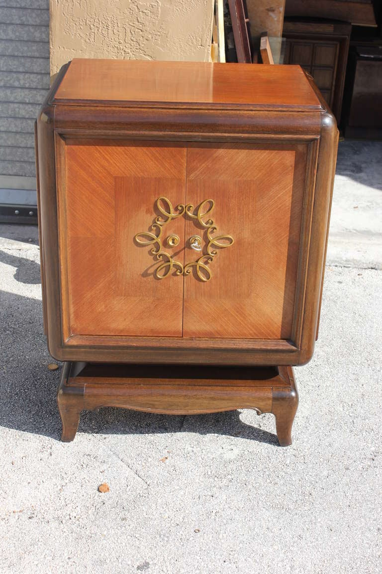 French Art Deco Palisander Cutlery Cabinet by Jean Desnos For Sale ...