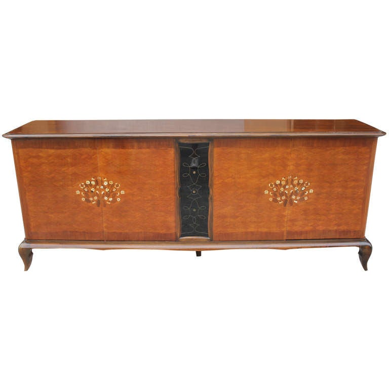 french art deco palisander m o p buffet at 1stdibs. Black Bedroom Furniture Sets. Home Design Ideas