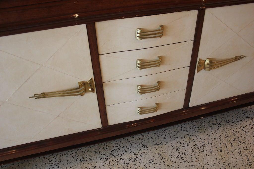French Art Deco Classic Parchment Palisander Quot Rio Quot Buffet