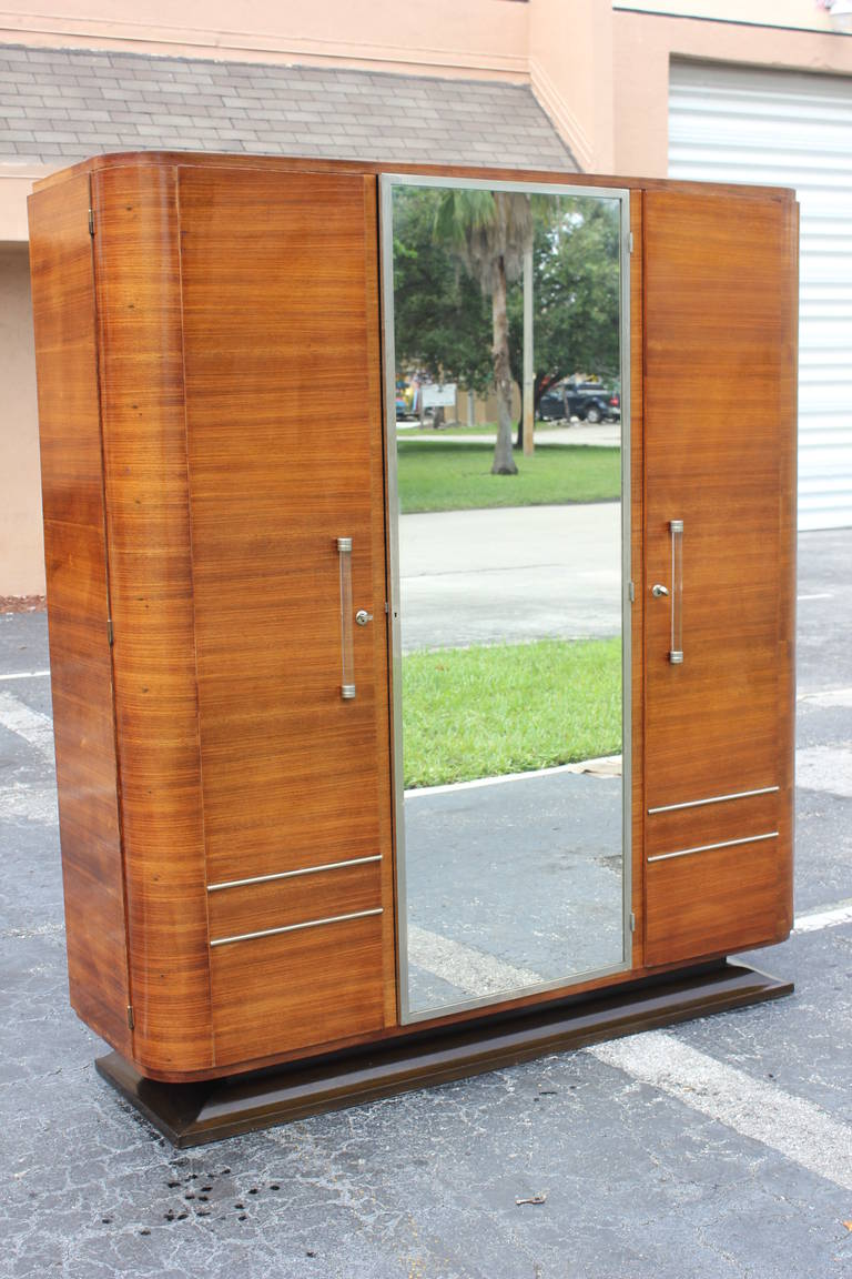 french art deco palisander rio armoire circa 1940s at 1stdibs. Black Bedroom Furniture Sets. Home Design Ideas