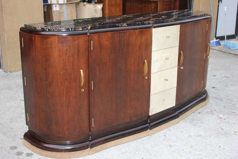 Masterpiece French Art Deco Buffet by Maurice Rinck, circa 1930s 3
