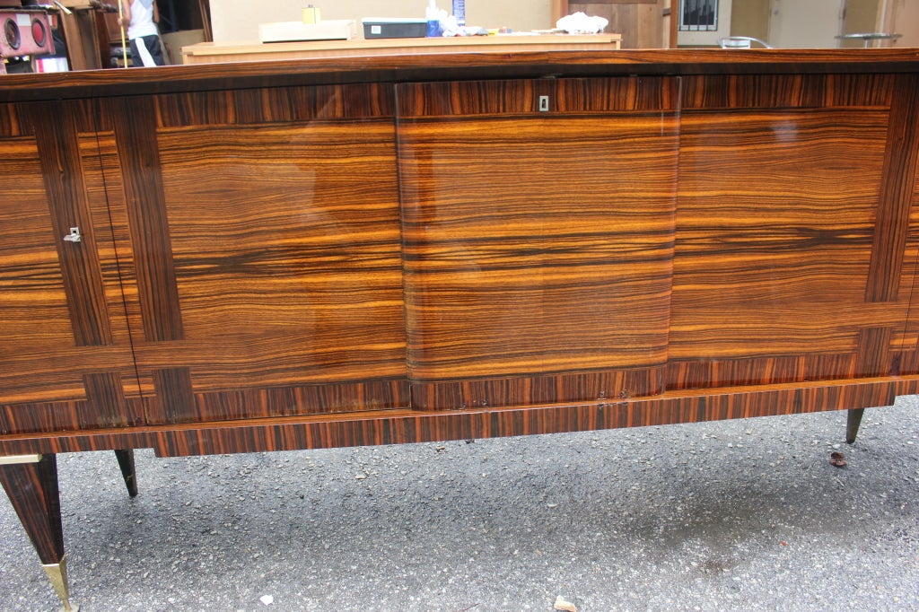 french art deco macassar ebony stripe buffet moderne at. Black Bedroom Furniture Sets. Home Design Ideas