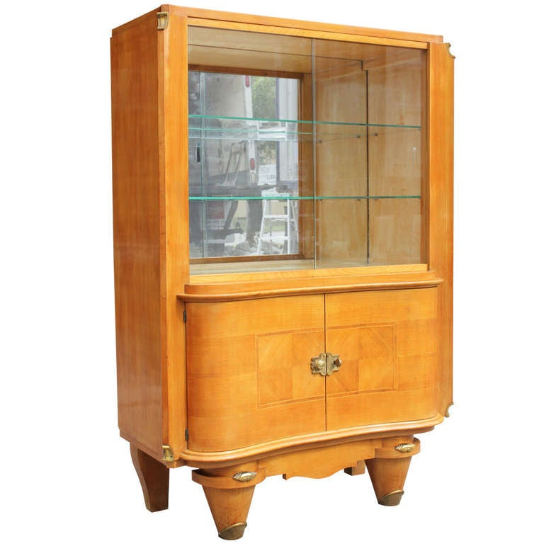 French Art Deco Sycamore Dry Bar Style Jules Leleu At 1stdibs