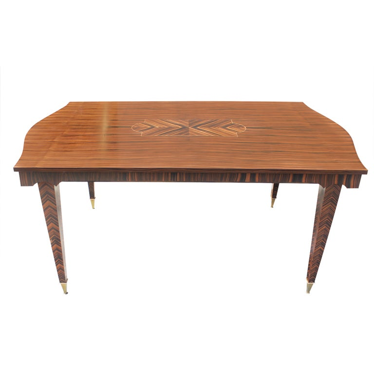 French Art Deco Exotic Macassar Ebony Dining Table At 1stdibs