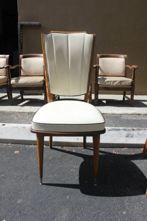 set 6 french art deco dining chairs solid walnut 2 art deco dining 6