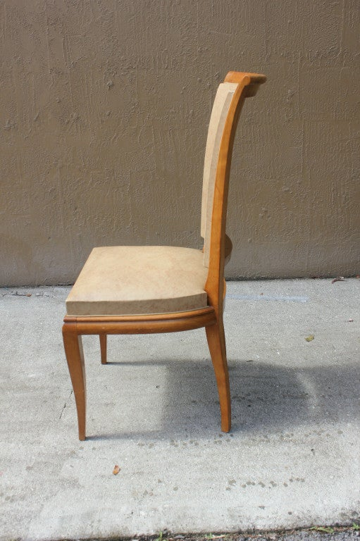 this set 6 french art deco high quality dining chairs solid walnut is