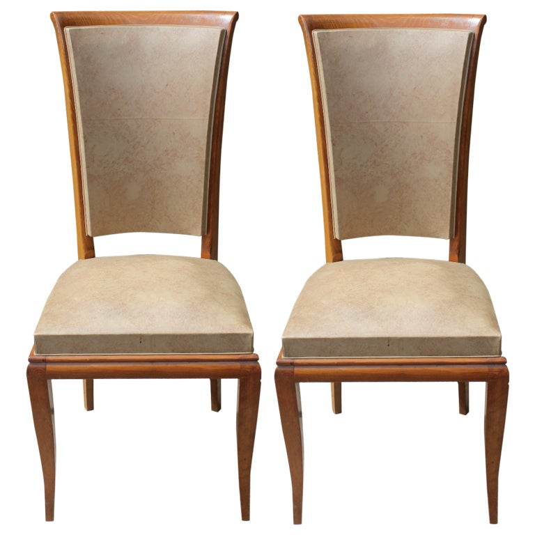 Best Quality Dining Room Furniture: Set 6 French Art Deco High Quality Dining Chairs, Solid
