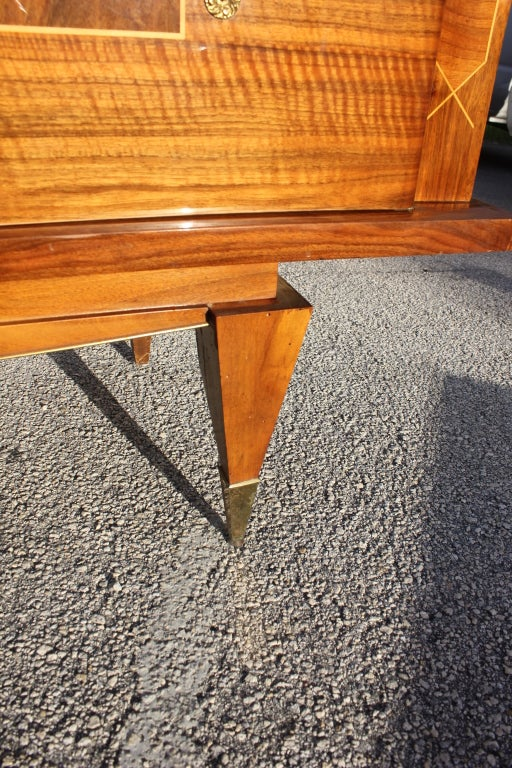 French Art Deco Moderne Exotic Walnut Buffet Fresh From