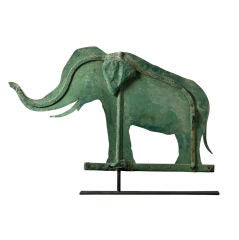 Rare Green Elephant Weathervane