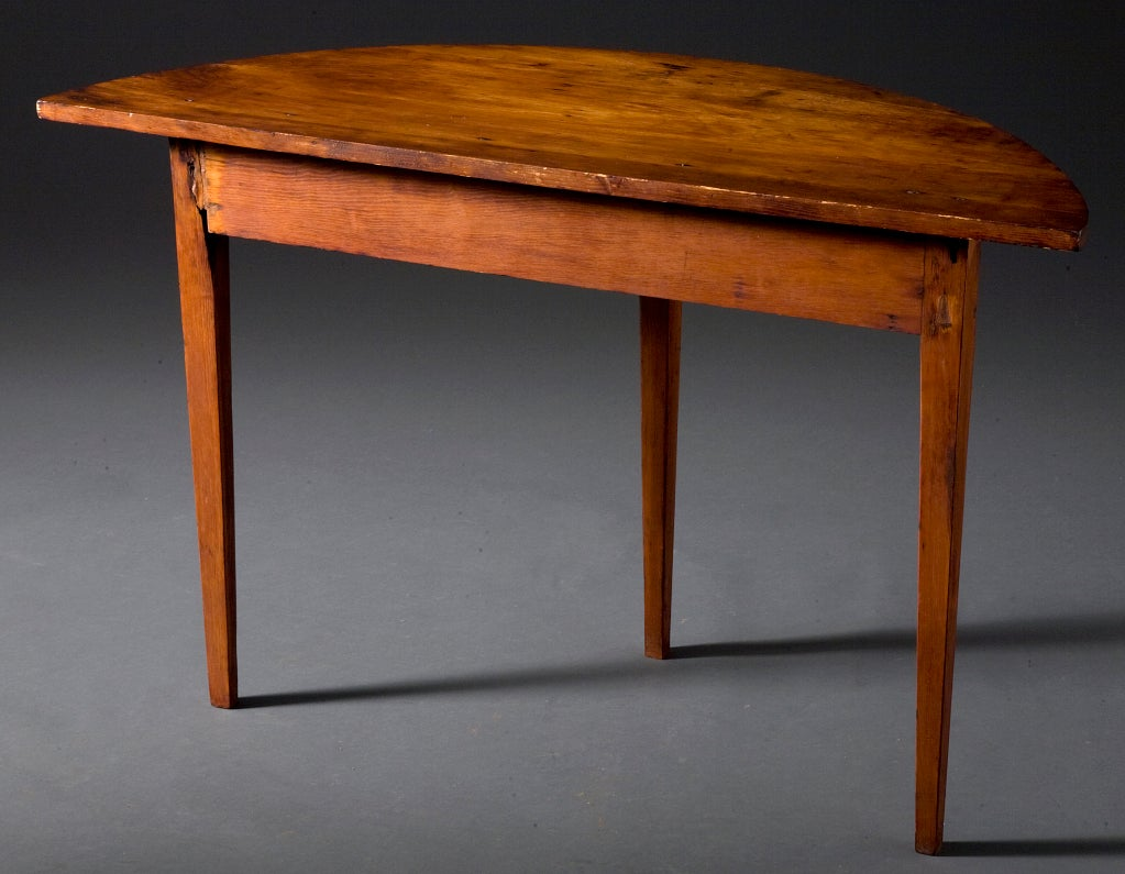 Demi lune table at 1stdibs - Table cuisine demi lune ...