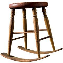 Unusual Windsor Rocking Stool