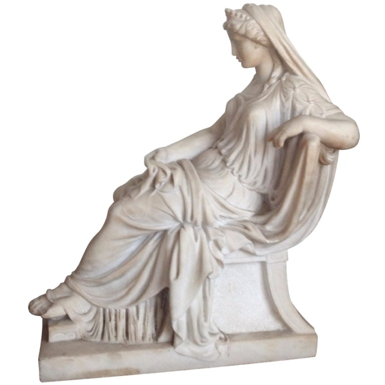 19th Century Marble Statue Of Greek Goddess At 1stdibs