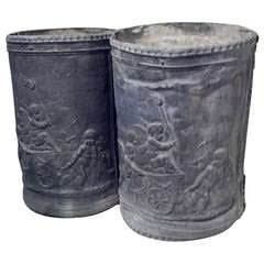 English 18th Century Lead Urns