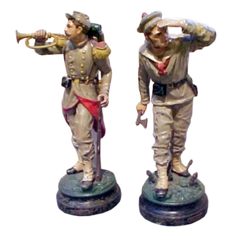 Cast Iron Models Of Toy Soldiers At 1stdibs