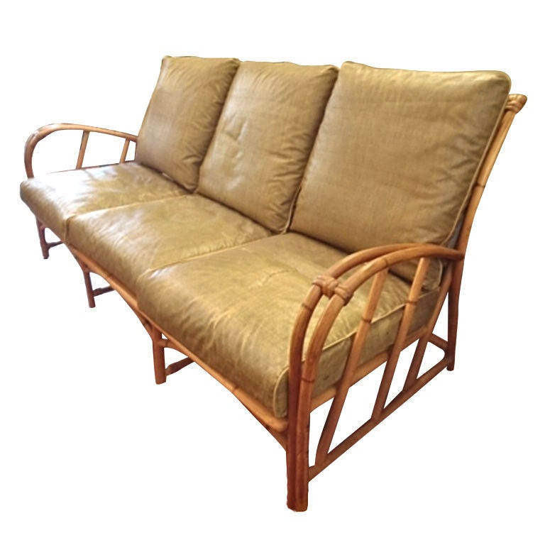 Vintage Heywood Wakefield Rattan Set At 1stdibs