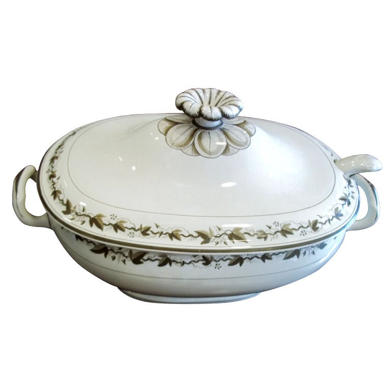 Wedgwood Soup Tureen With Ladle At 1stdibs