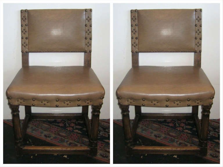 Colonial Dining Room Furniture: Set Of Ten 19th Century Spanish Colonial Carved Oak Dining