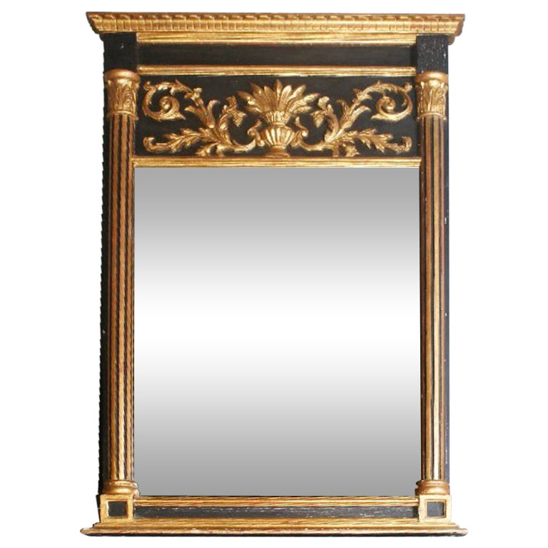 Italian Neoclassical Style Carved Gilt Wood And Ebonized