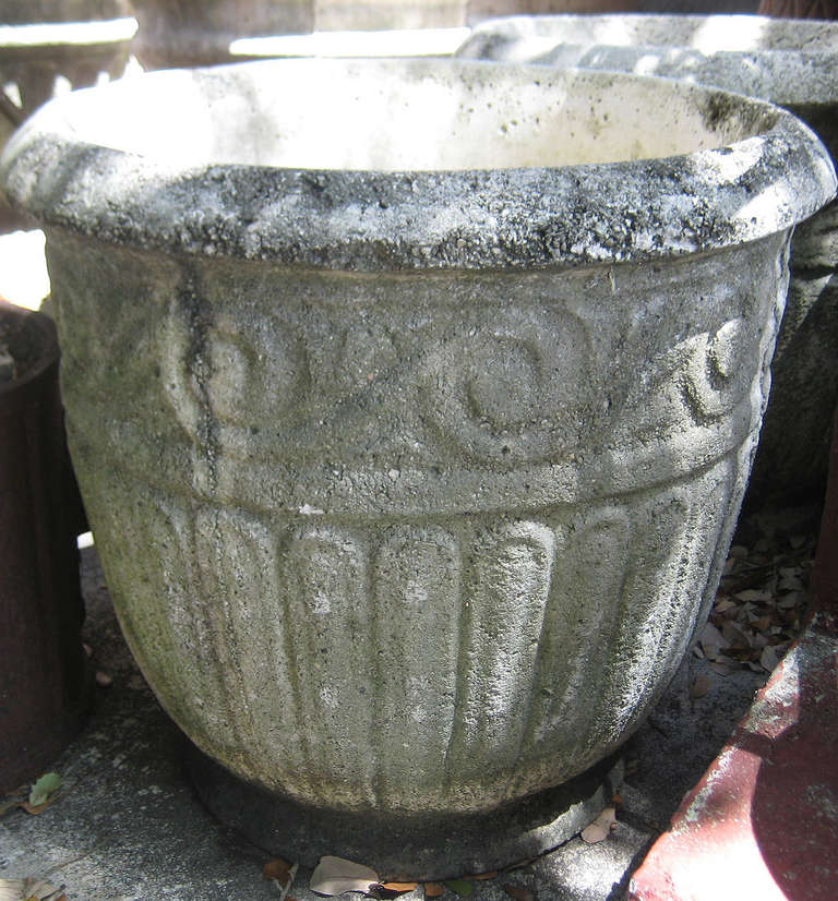 Pair of large cast stone garden planters for sale at 1stdibs for Large garden stones for sale