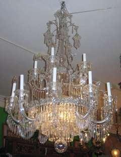 English Regency Style 15-Light Crystal Chandelier image 2