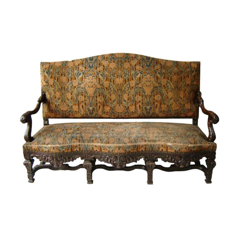 19th c louis xiv carved sofa asm37 at 1stdibs - Louis xiv sofa ...