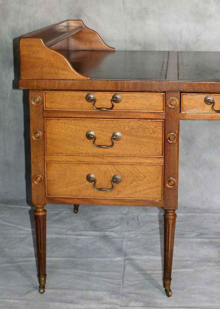 Martha Washington Style Mahogany Leather Top Desk At 1stdibs
