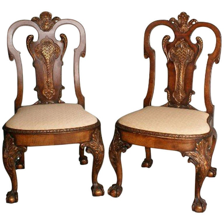 Good Pair Of 19th C Irish Chippendale Mahogany And Parcel