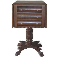 Classical Mahogany Drop Side Work Table 'Anthony Quervelle'