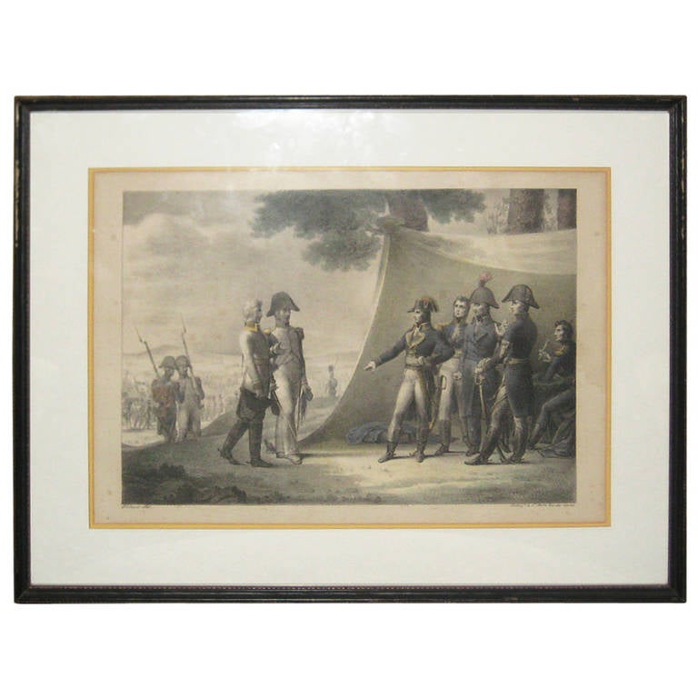Rare 19th C Napoleon Lithograph By Charles Motte 1785