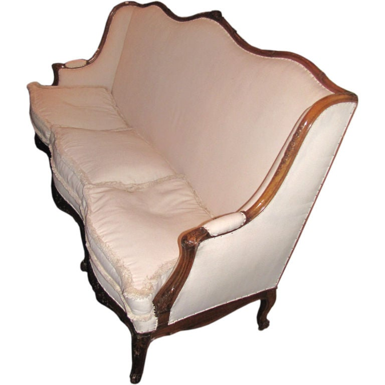 19th century louis xv carved wood canape at 1stdibs for Louis xv canape sofa