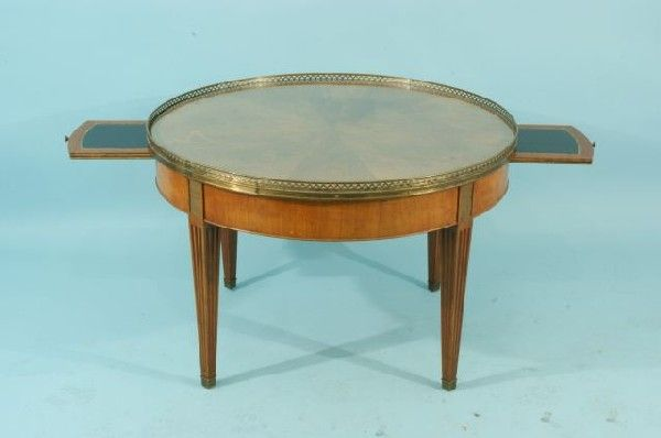 pair of vintage baker furniture regency style occassional tables image