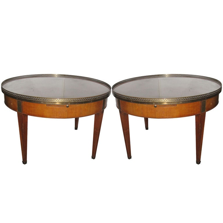pair of vintage baker furniture regency style occassional tables at