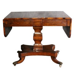 19th Century Regency Rosewood Drop Side Table, circa 1820