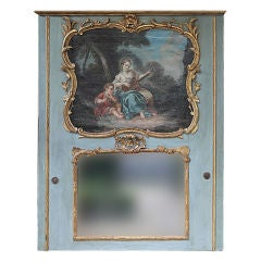 18th Century French Louis XV Painted Trumeau