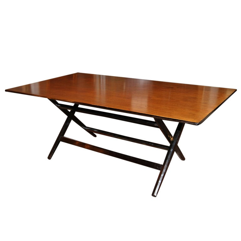 French Tinted Mahogany Collapsible Table at 1stdibs
