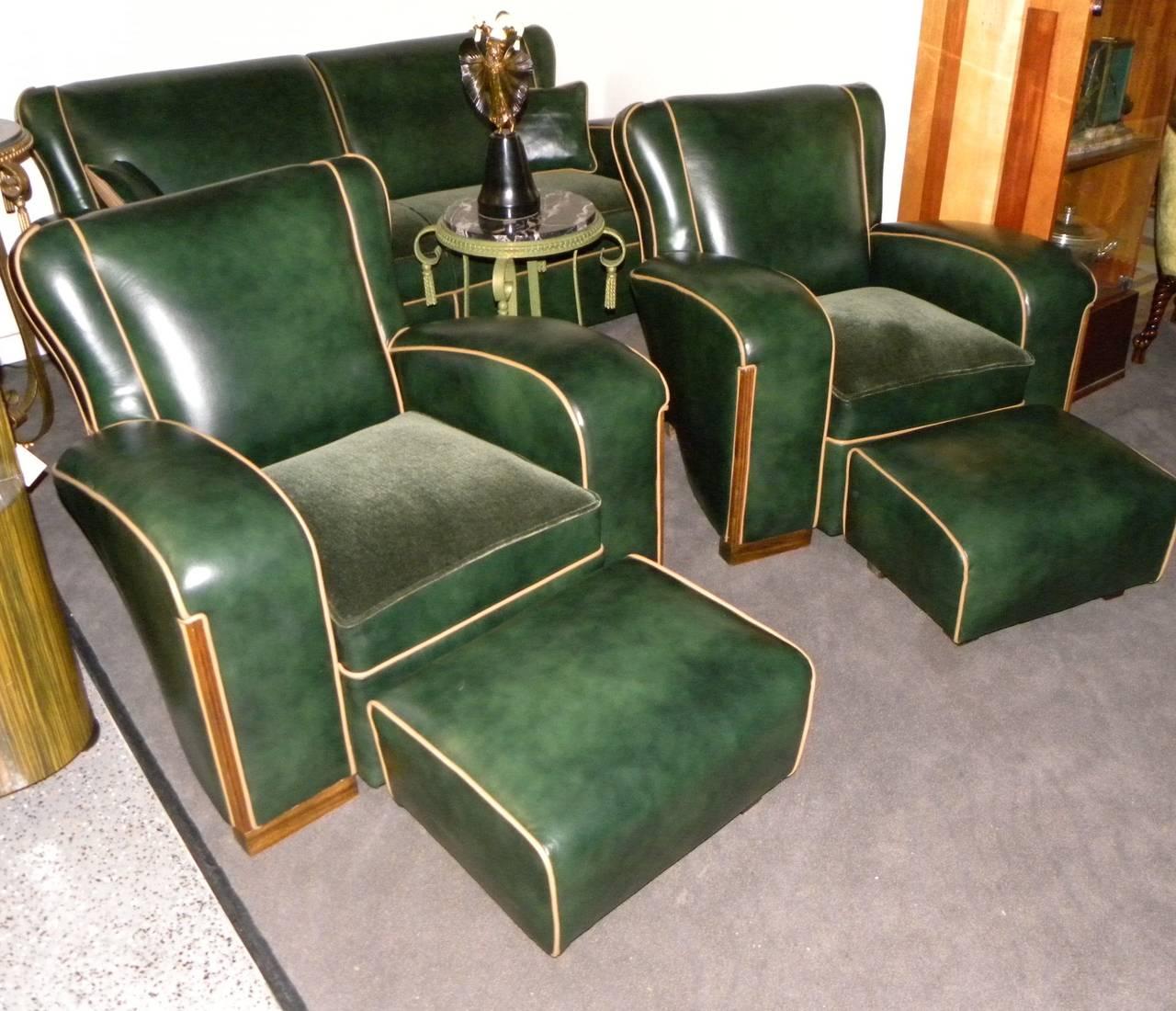 Unique Art Deco Sofa Suite At 1stdibs