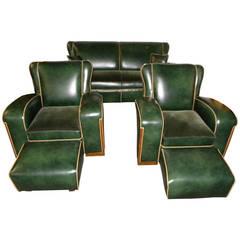 Unique Art Deco Sofa Suite
