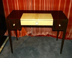 Petite Art Deco Macassar Writing or Vanity Desk