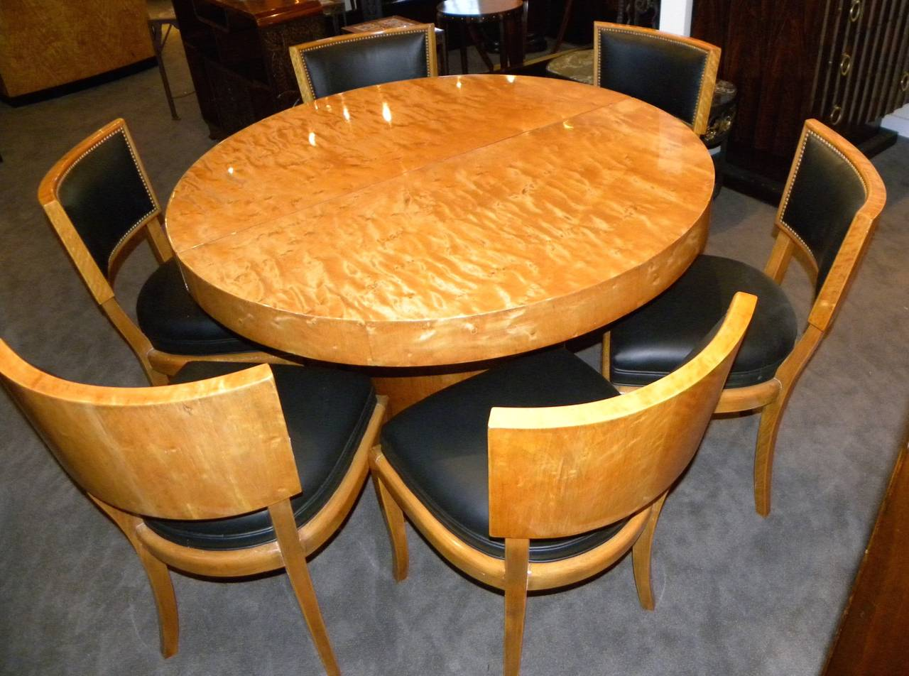 Art Deco Round Mid Century Dining Table And Chairs At 1stdibs