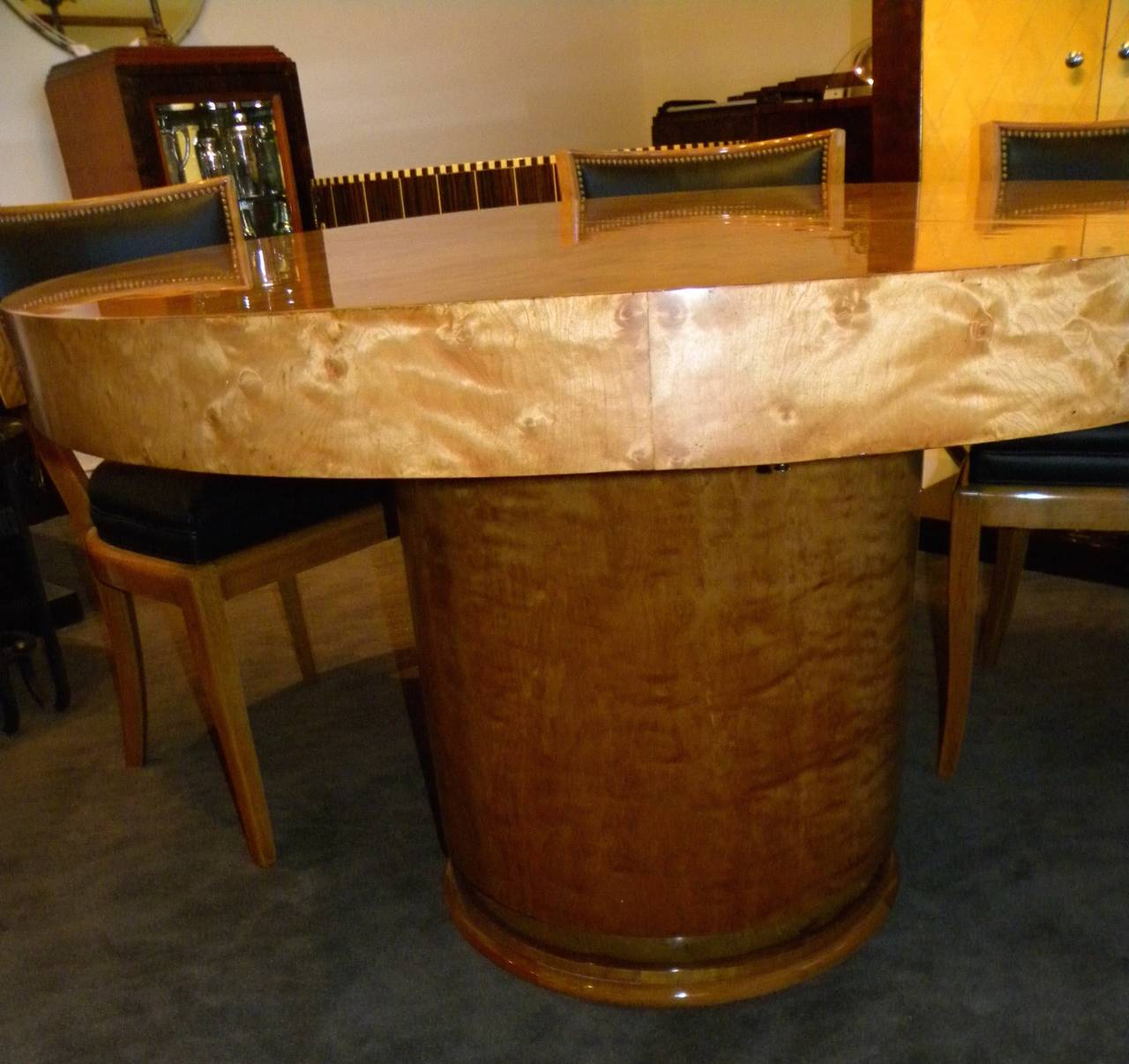Argentine Art Deco Round Mid Century Dining Table And Chairs For Sale