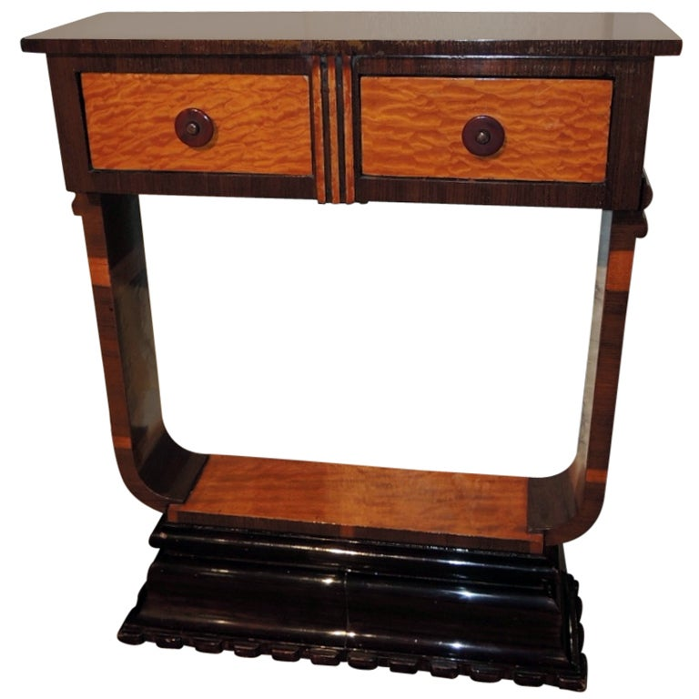 unusual art deco console or petite table at 1stdibs. Black Bedroom Furniture Sets. Home Design Ideas