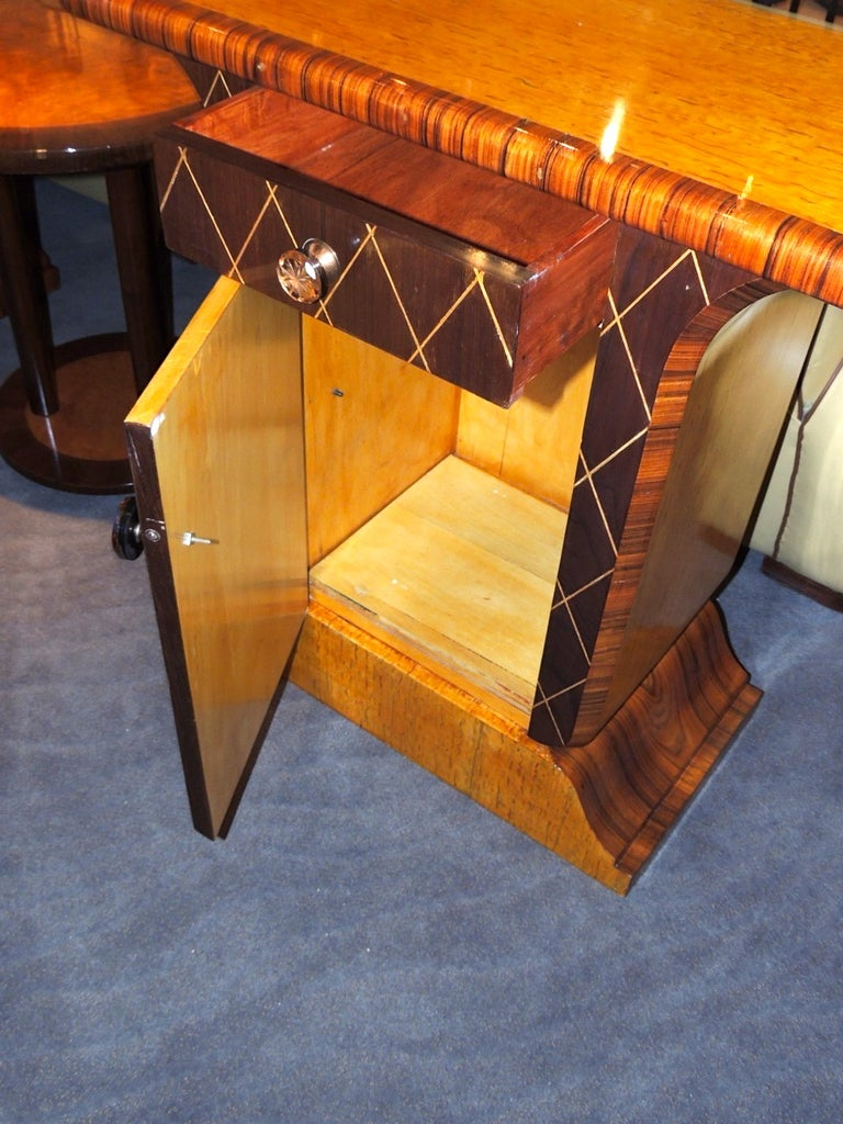 art deco deluxe petite console cabinet at 1stdibs. Black Bedroom Furniture Sets. Home Design Ideas