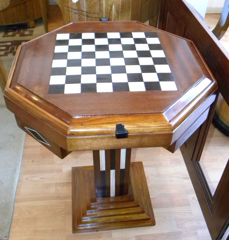 Amazing Art Deco Game Table Chess Checkers Backgammon 2