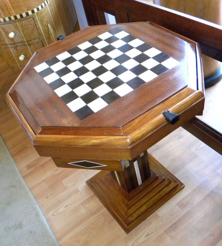 Art Deco Game Table Chess Checkers Backgammon For Sale At