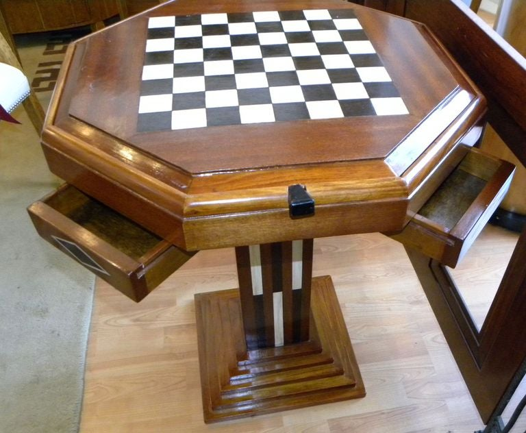 Art Deco Game table Chess Checkers Backgammon at 1stdibs